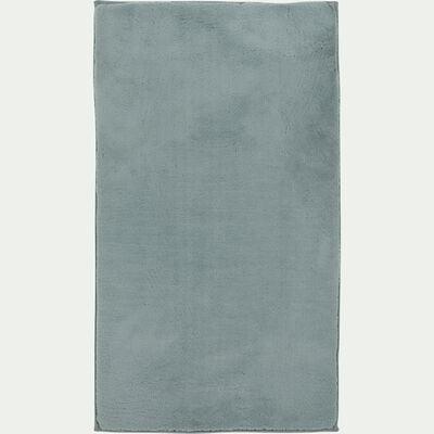 Tapis imitation fourrure - bleu calaluna 60x110cm-ROBIN