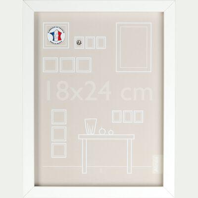 Cadre photo en bois 18x24cm - blanc-PAHA
