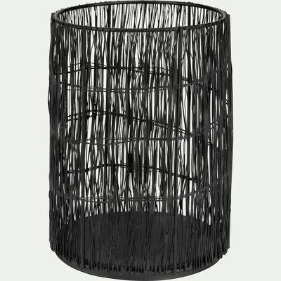 Photophore en métal - noir H19cm-COAS