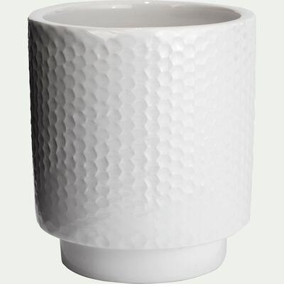 Gobelet en céramique - blanc ventoux H9,5cm-Ghibo