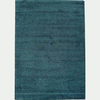 Tapis moucheté - bleu canard 160x230cm-STESSY