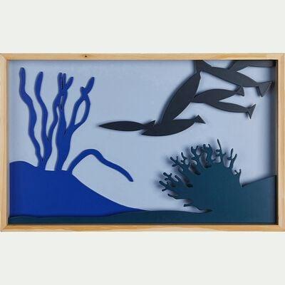 Cadre photo au décor marin - bleu-Tableù