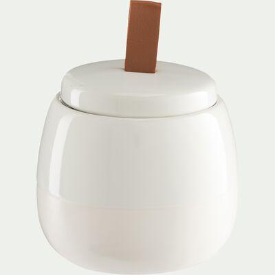 Pot à coton en grès - blanc-SPINA