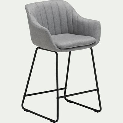 Chaise haute en tissu - gris borie-OLBIA