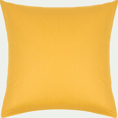 Lot de 2 taies d'oreiller en coton - jaune genet 65x65cm-CALANQUES