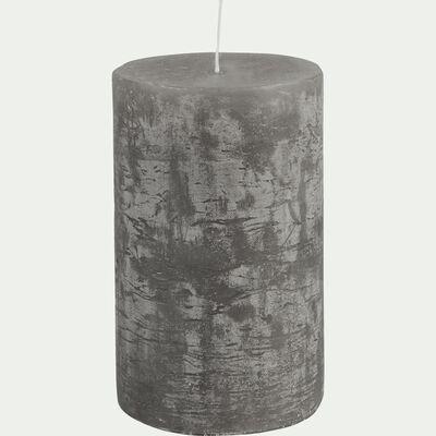 Bougie cylindrique - D7xH11cm gris restanque-BEJAIA