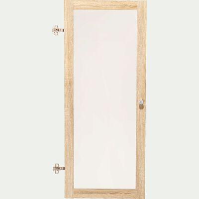 Porte vitrée en bois - bois clair H95,7cm-Biala