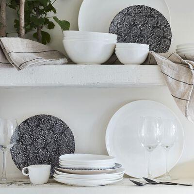 Assiette de présentation en porcelaine légère qualité hôtelière D30cm-SENANQUE