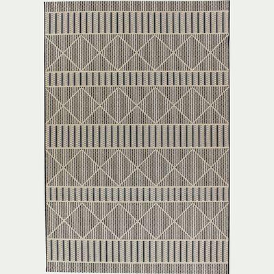 Tapis sisal intérieur et extérieur - beige et noir 160x230cm-JERSEY