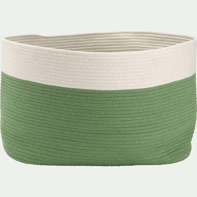 Panier de rangement bicolore - vert L55xl30xH35cm-Louni