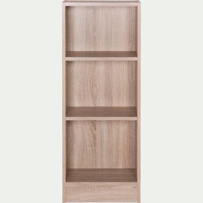 Petite bibliothèque en bois 3 tablettes - bois clair H107xL40cm-Biala
