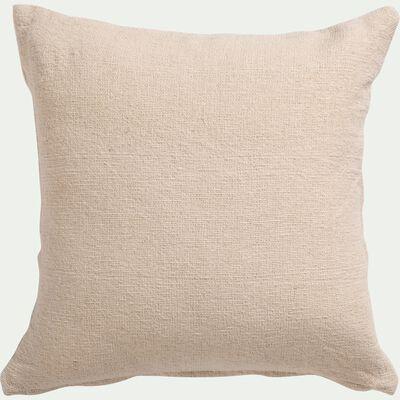 Housse de coussin rustique en coton - beige 45x45cm-AZUCA