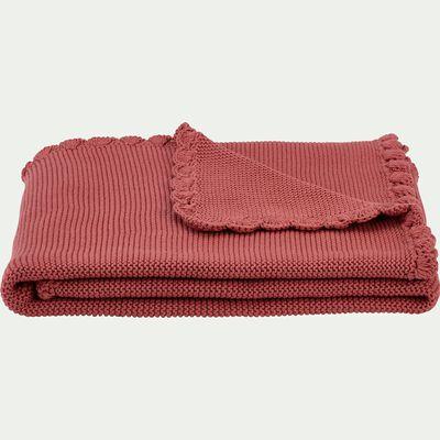 Plaid enfant en coton 80x100cm - rose-Yona