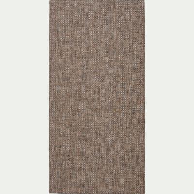 Tapis de cuisine effet tissé - marron 60x120cm-SISAL