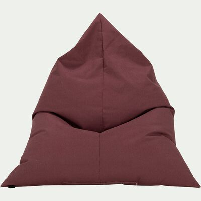 Pouf de jardin rouge sumac 120x110cm-Rossi