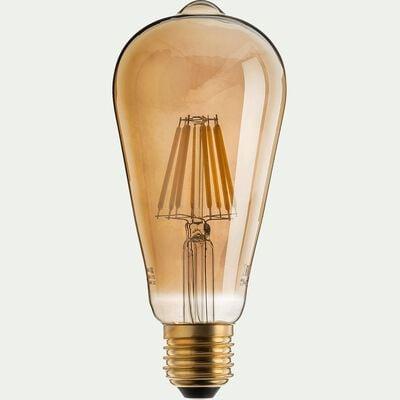 Ampoule déco LED à filament poire - teintée grise 14,50cm-POIRE