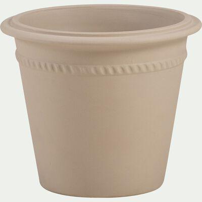 Pot de fleurs en grès - beige L35xl30cm-LIMADI