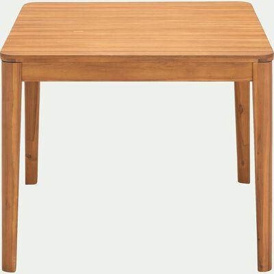 Table de jardin carrée en acacia - naturel (4 places)-ESTILA