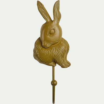 Patère lapin en résine - jaune H15cm-Cruz