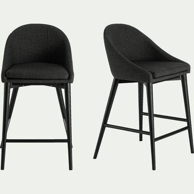 Chaise de bar gris restanque - H66cm-ABBY