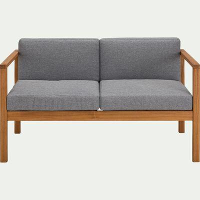 Canapé de jardin 2 places en acacia -  gris-CARLO