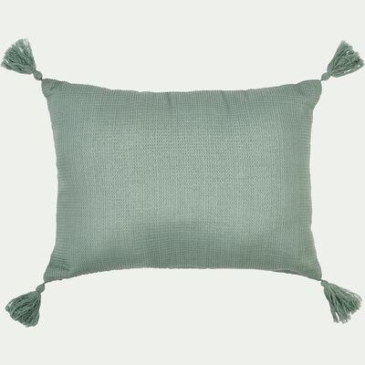 Coussin rectangle en coton 30x40cm - vert-Songe