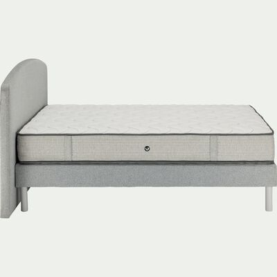 Ensemble de lit tête de lit galbée - 160x200cm-ROUSSILLON