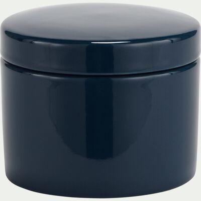 Pot à coton en grès - bleu myrte-PROSPER