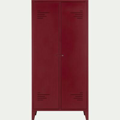 Armoire 2 portes en acier - rouge sumac-LOFTER