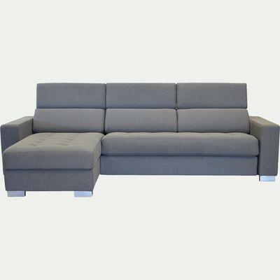 Canapé d'angle réversible convertible en tissu - gris borie-MAURO BULTE