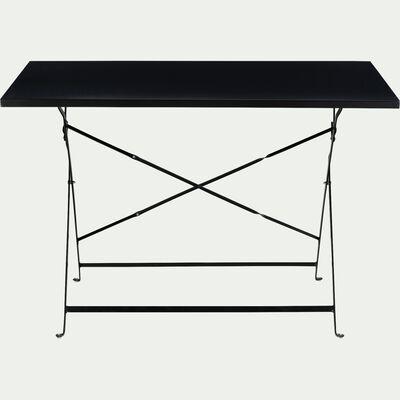 Table de jardin pliante en acier - noir (4 places)-CERVIONE