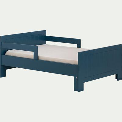 Lit 1 place évolutif en bois MDF 3 positions pour enfant - bleu figuerolles-POLLUX