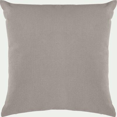 Coussin de sol en coton - gris vésuve 70x70cm-CALANQUES