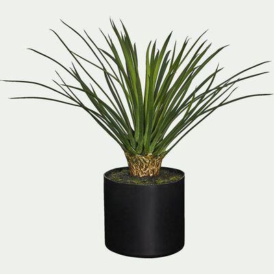 Plante artificielle palmier en pot - vert H38cm-EPINE POT