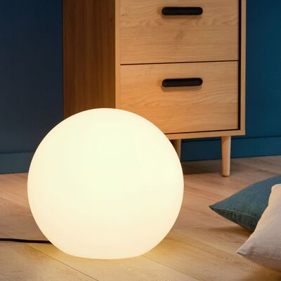 Boule lumineuse blanche intérieur extérieur D40cm-BOULY