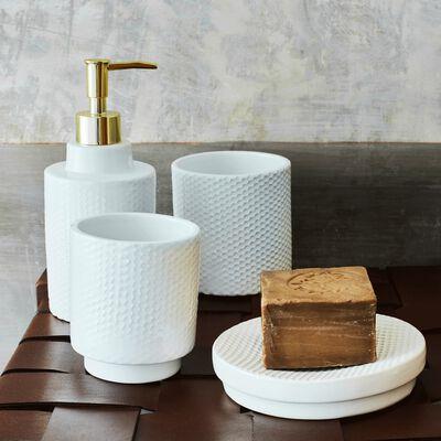 Porte-savon en céramique - blanc ventoux D14cm-Ghibo