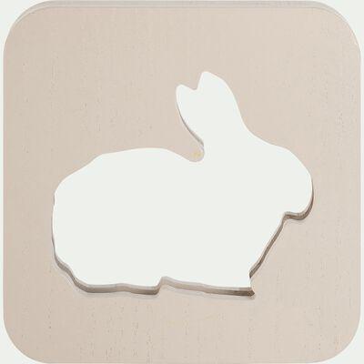 Veilleuse lapin en bois avec bande led non électrifiée - beige alpilles-Clarour
