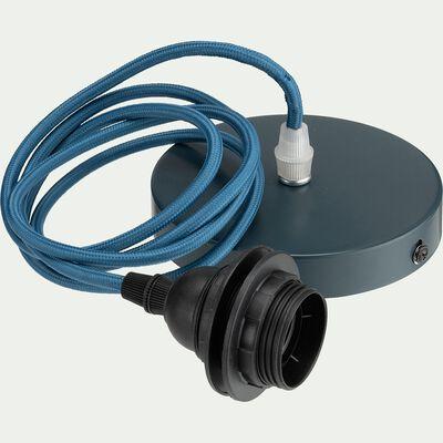 Cordon électrique en tissu E27 - bleu figuerolles L150cm-ARGUIN