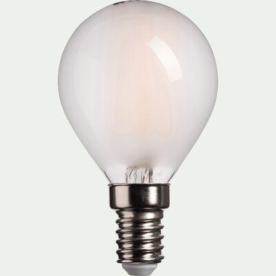 Ampoule LED verre dépoli D4,5cm culot E14-SPHERE
