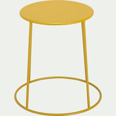 Table d'appoint de jardin - jaune argan (D35cmxH44,5cm)-Ikaria