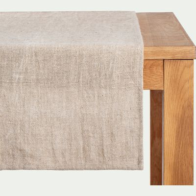Chemin de table en lin - beige 50x200cm-SADA