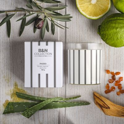 Bougie parfumée feuille d'acanthe 160g-BIANCO ET NERO