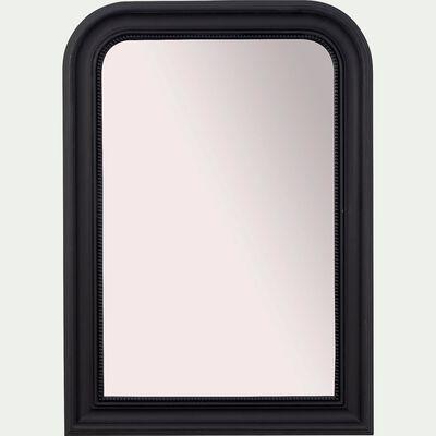 Miroir à moulures en bois - noir H115cm-GALINETTE