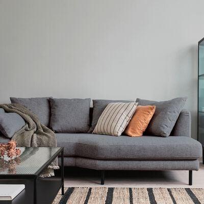 Canapé 3 places fixe droit en tissu - gris restanque-TESSOUN