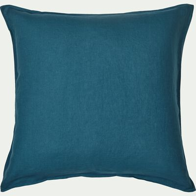 Lot de 2 taies d'oreiller en lin - bleu figuerolles 65x65cm-VENCE