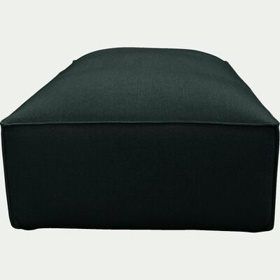 Grand pouf en tissu - L125xH40xl70cm vert cèdre-REVERE