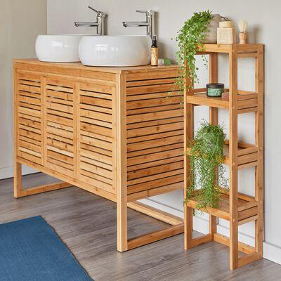 Étagère de salle de bains en bambou H100cm-Danong