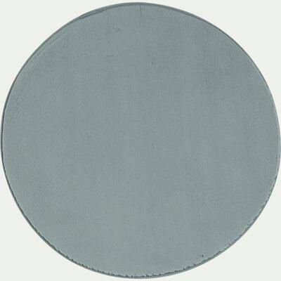 Tapis rond imitation fourrure - bleu calaluna D70cm-ROBIN