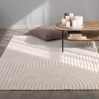Tapis imitation fourrure à motifs - beige 160x230cm-PELA