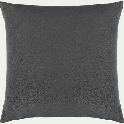 Coussin en coton - gris ardoise 40x40cm-CALANQUES